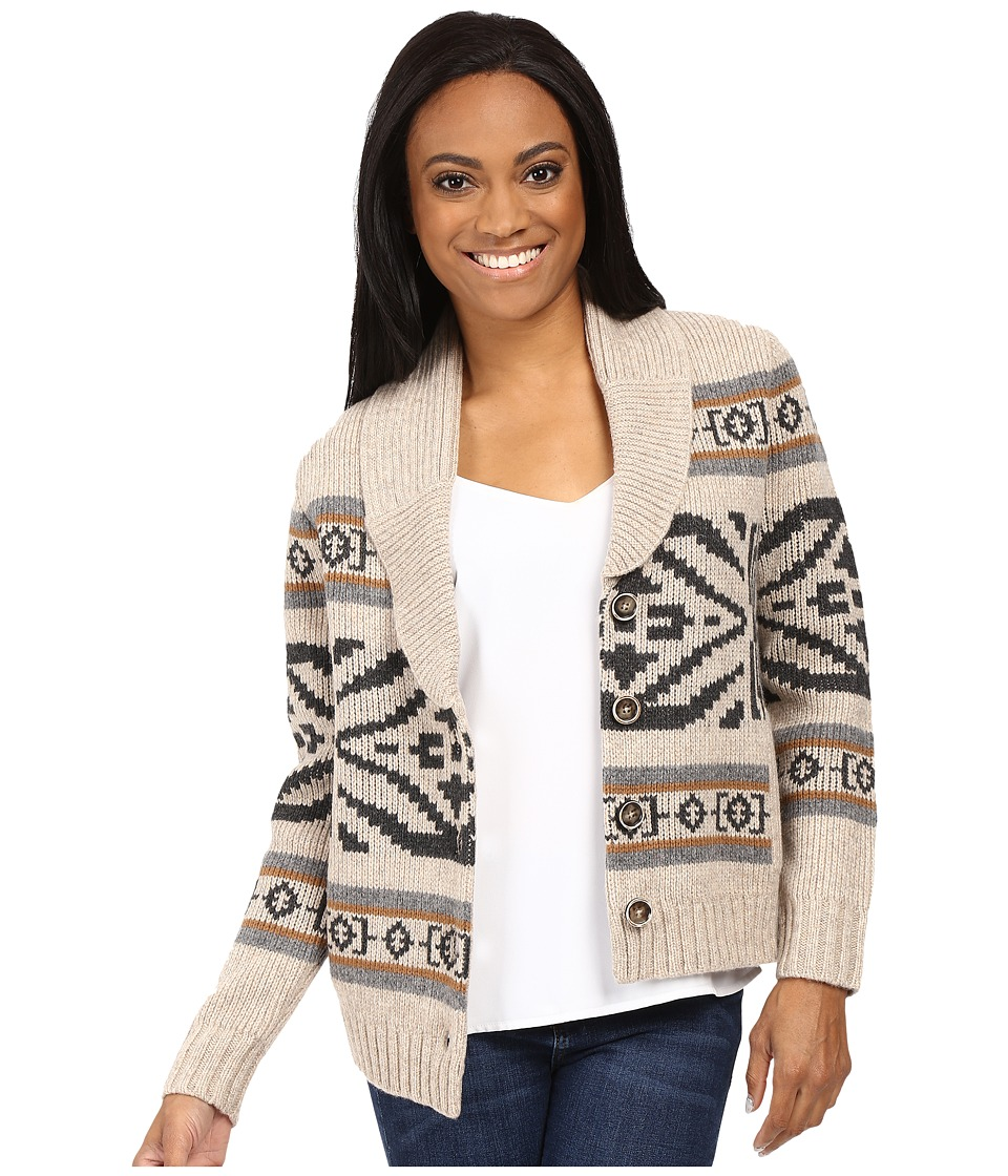 Pendleton - Petite Westward Cardigan (Natural Heather Multi) Women's Sweater