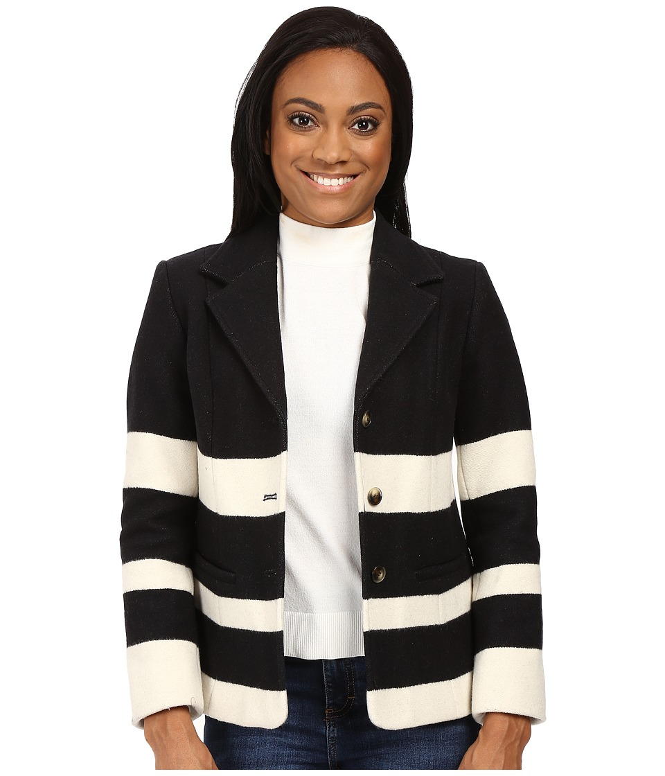 Pendleton - Petite Skyline Stripe Jacket (Black/Vanilla Stripe Jacquard) Women's Jacket