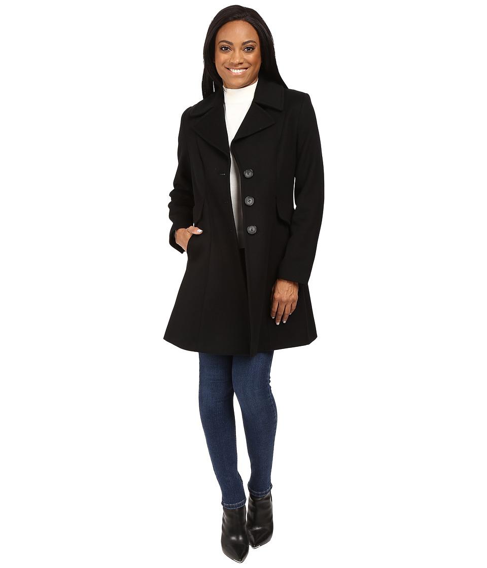 Pendleton Petite Fit and Flare Coat (Black) Women's Coat