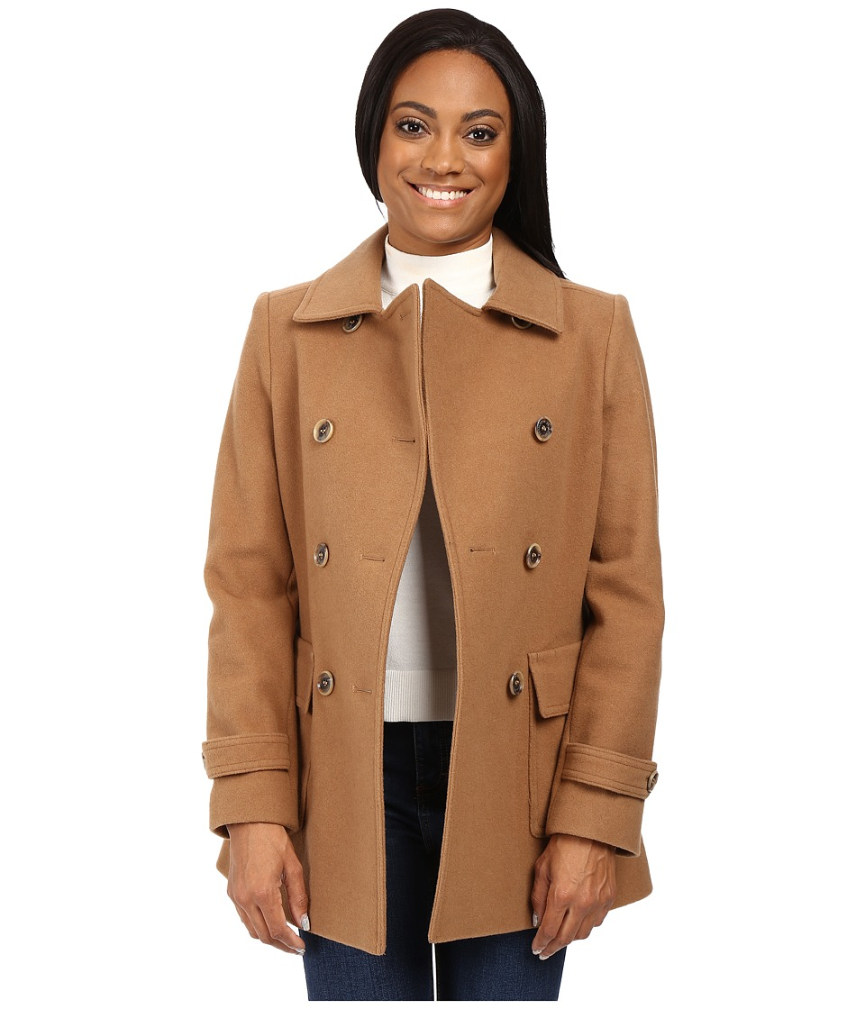 Pendleton - Petite Double-Breasted Coat (Camel) Women's Coat