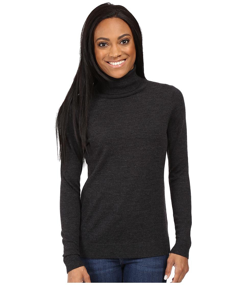 Pendleton - Petite Timeless Turtleneck (Charcoal Heather) Women's Long Sleeve Pullover