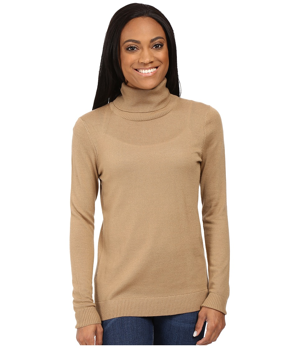Pendleton - Petite Timeless Turtleneck (Camel) Women's Long Sleeve Pullover