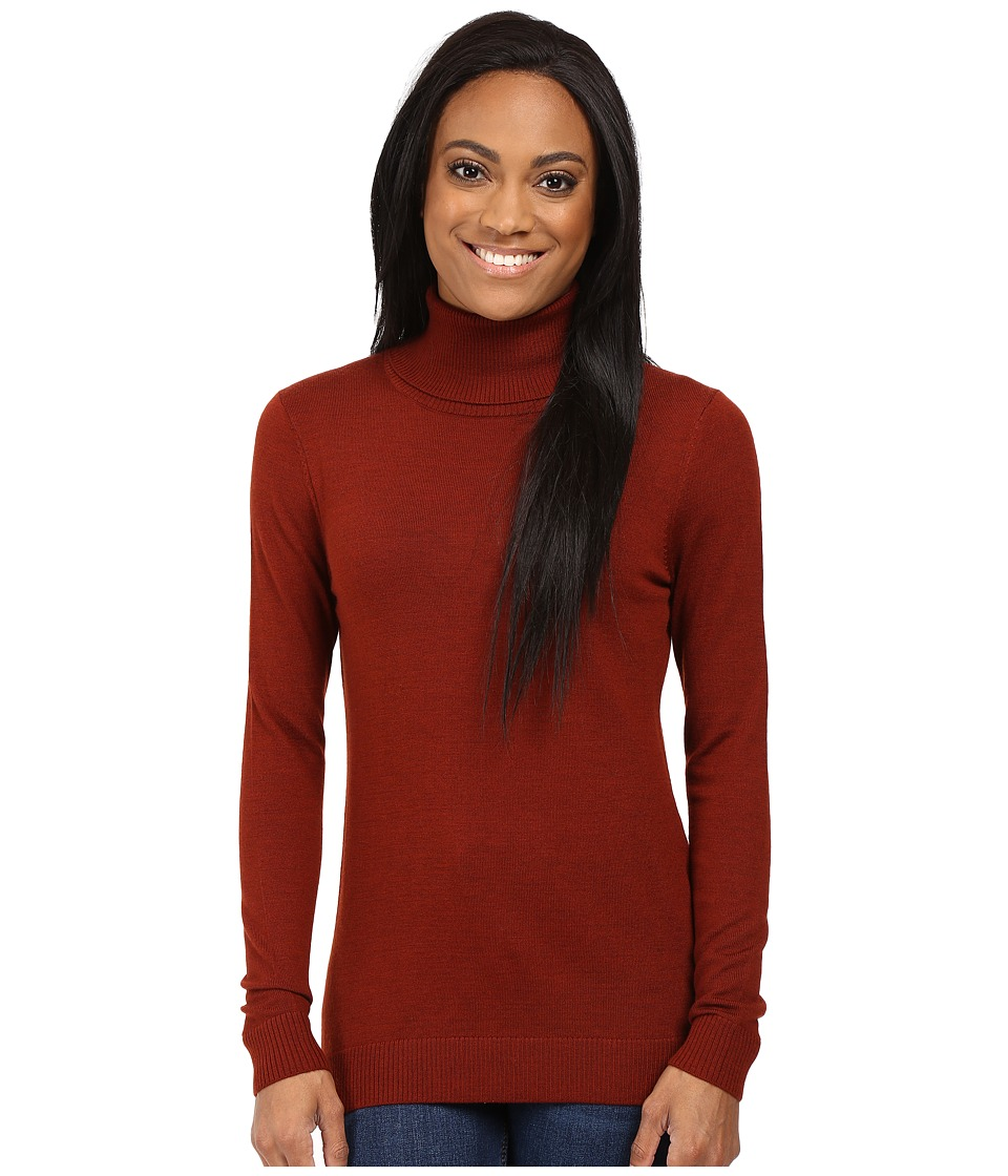 Pendleton - Petite Timeless Turtleneck (Rosewood Heather) Women's Long Sleeve Pullover