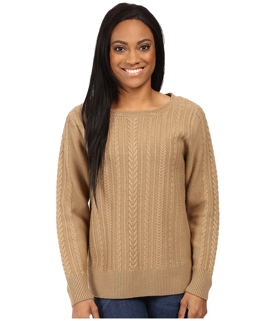 Pendleton - Petite Connie Cable Pullover (Camel) Women's Sweater
