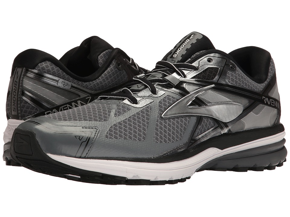 Brooks Ravenna 7 (Silver/Black/Metallic Charcoal) Men
