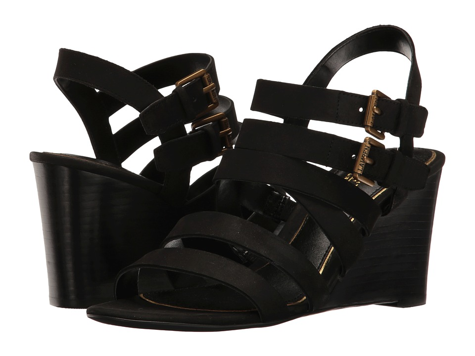 LAUREN Ralph Lauren - Aleigh (Black) Women's Wedge Shoes