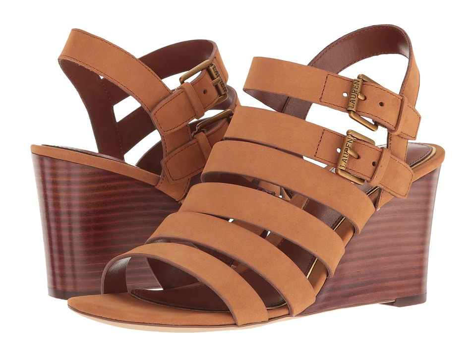 LAUREN Ralph Lauren - Aleigh (Tan) Women's Wedge Shoes