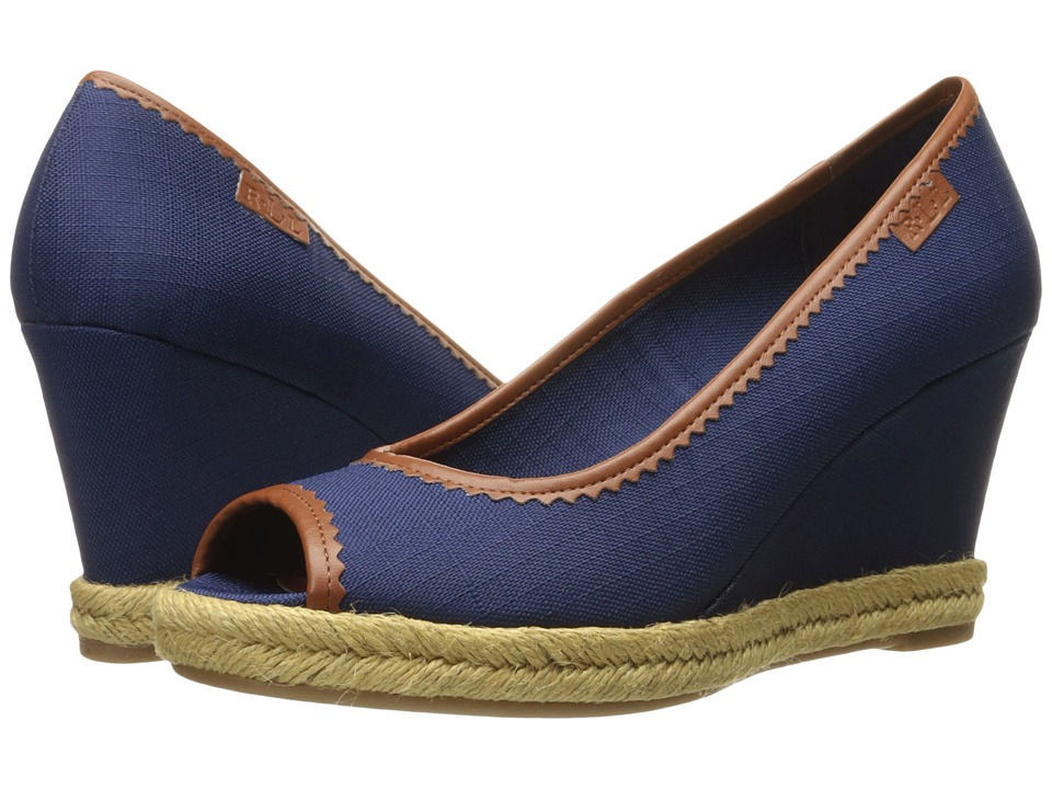 LAUREN Ralph Lauren - Nella (Modern Navy) Women's Wedge Shoes