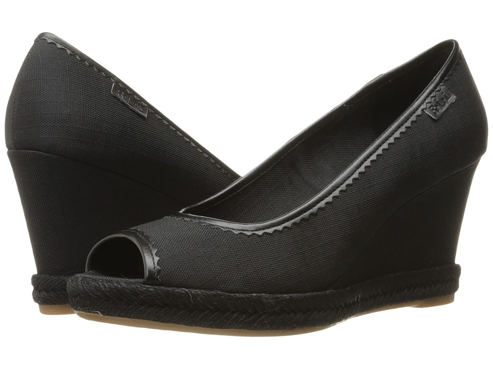 LAUREN Ralph Lauren - Nella (Black) Women's Wedge Shoes