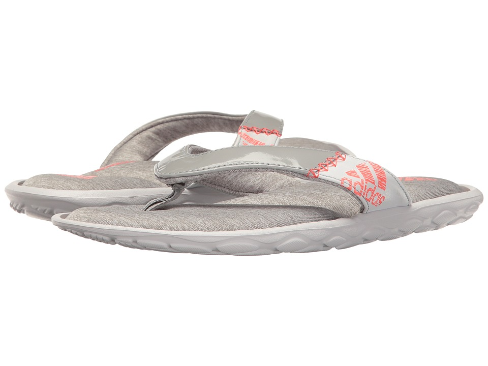 adidas - Anyanda Flex Y (Medium Grey Heather/Tech Rust/White) Women's Sandals