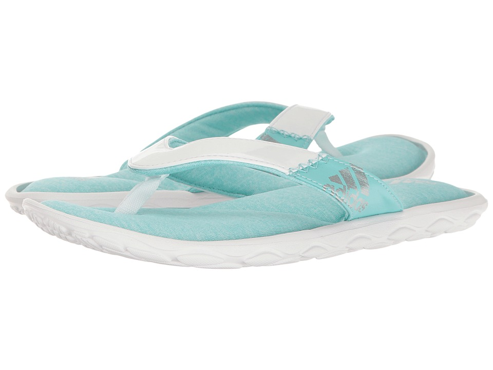 adidas - Anyanda Flex Y (Easy Mint/Silver Metallic/Footwear White) Women's Sandals