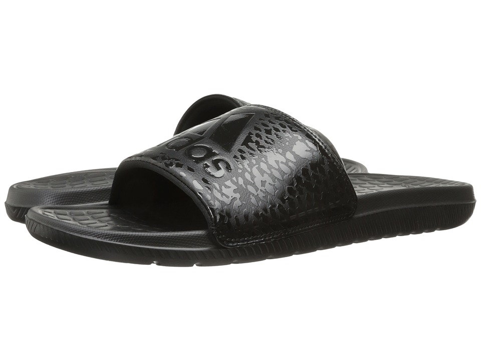 adidas - Voloomix Graphic (Black/Black) Men's Slide Shoes