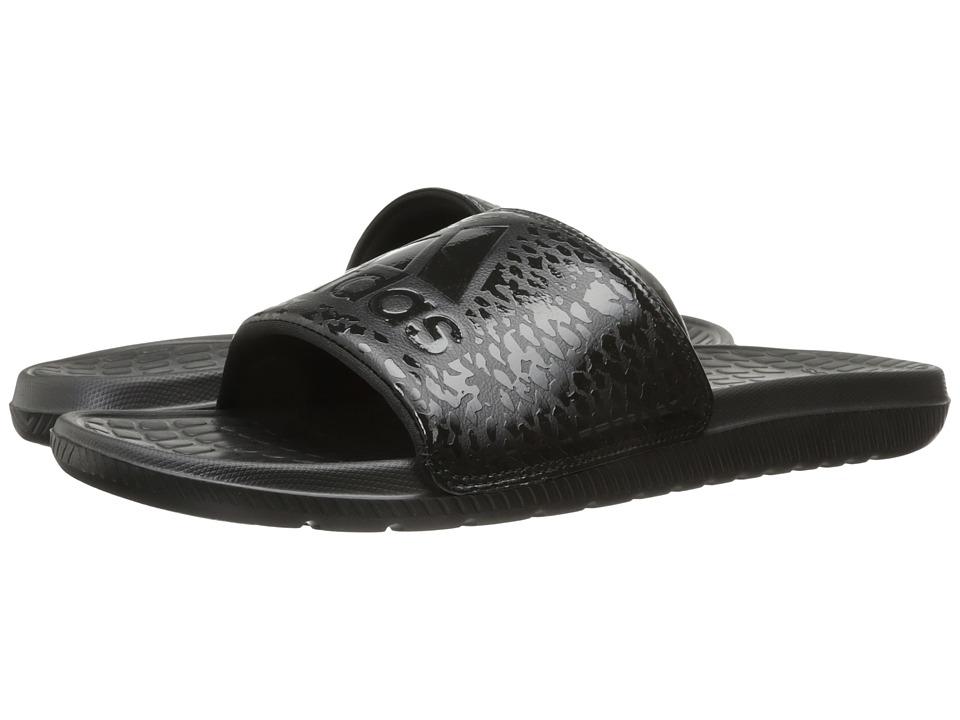 adidas - Voloomix Graphic (Black/Black) Men's Slide Shoes