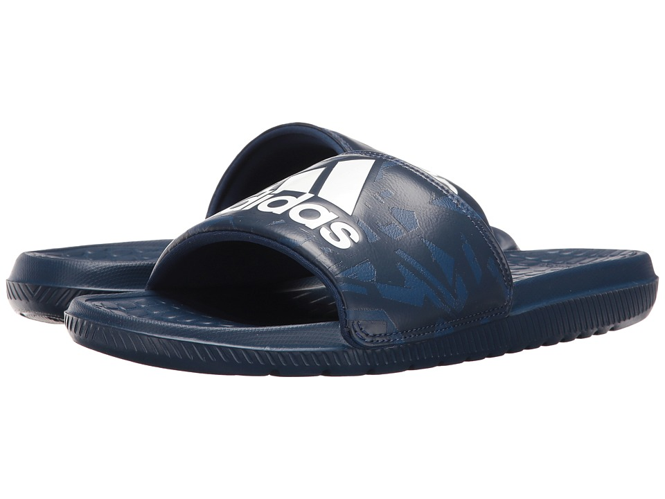 adidas - Voloomix Graphic (Mystery Blue/Night/Navy) Men's Slide Shoes