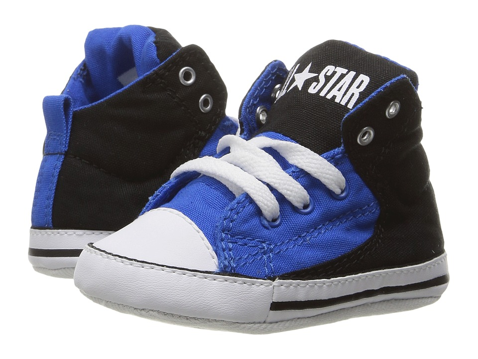 Converse Kids - Chuck Taylor All Star First Star High Street Hi (Infant/Toddler) (Black/Soar/White) Boy's Shoes