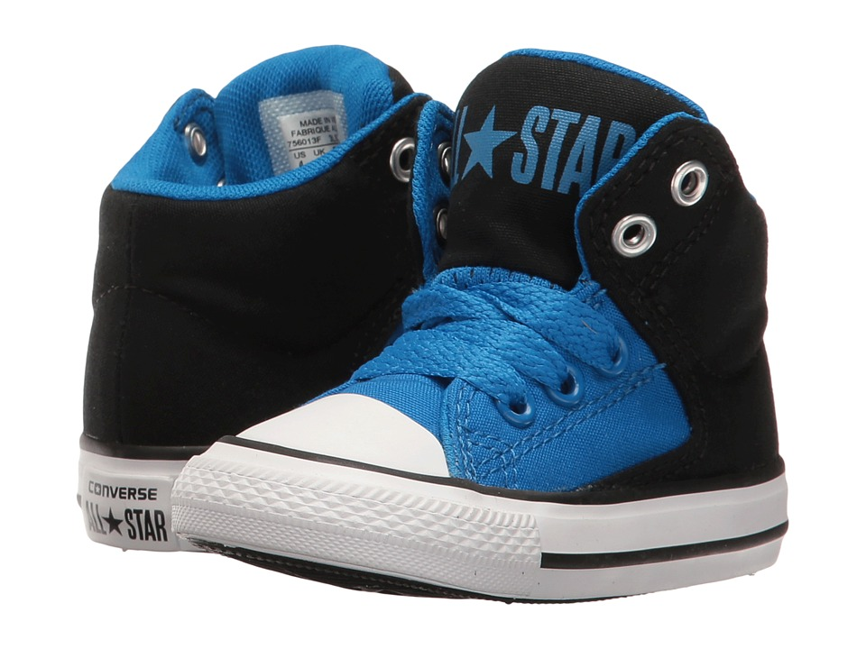 Converse Kids - Chuck Taylor All Star High Street Hi (Infant/Toddler) (Soar/Black/White) Boy's Shoes