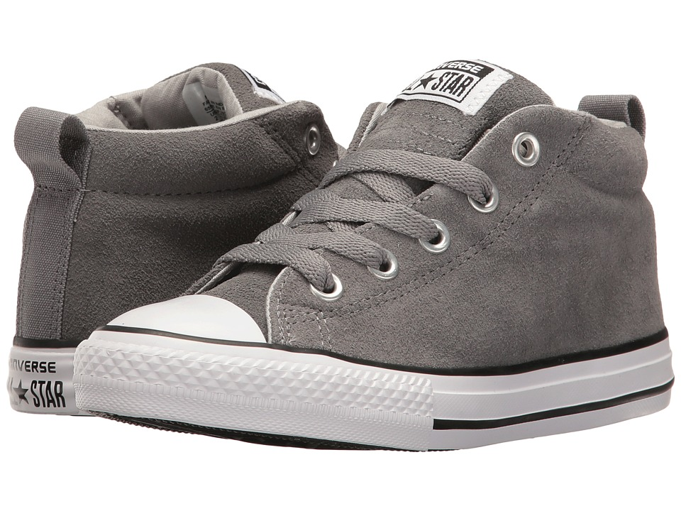 Converse Kids - Chuck Taylor All Star Street Mid (Little Kid/Big Kid) (Mason/Ash Grey/White) Boy's Shoes