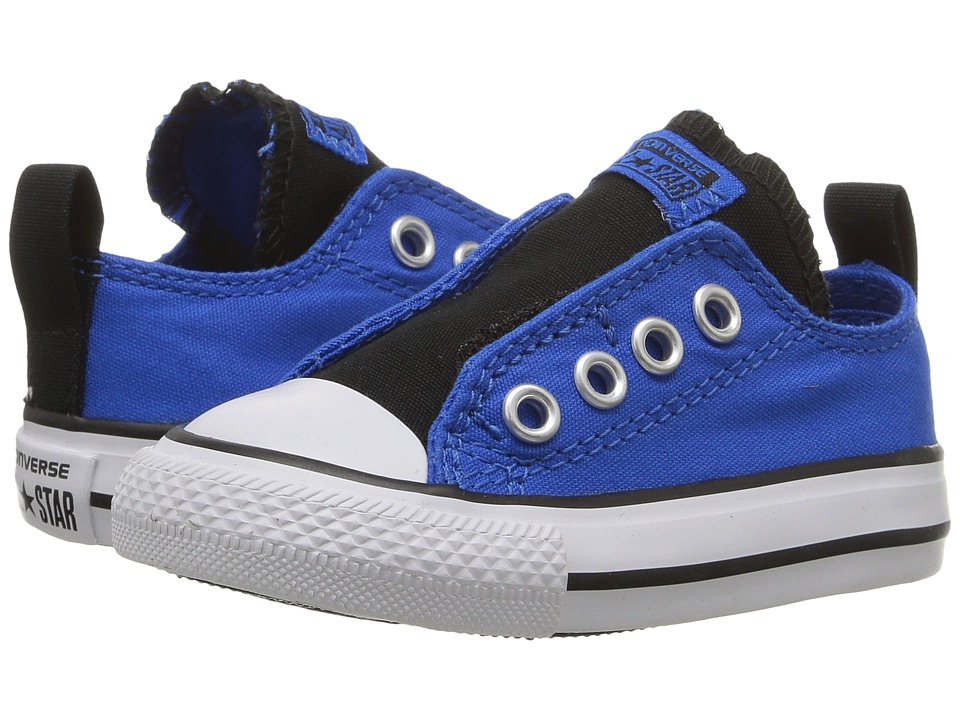 Converse Kids - Chuck Taylor All Star Simple Slip Ox (Infant/Toddler) (Soar/Black/White) Boy's Shoes
