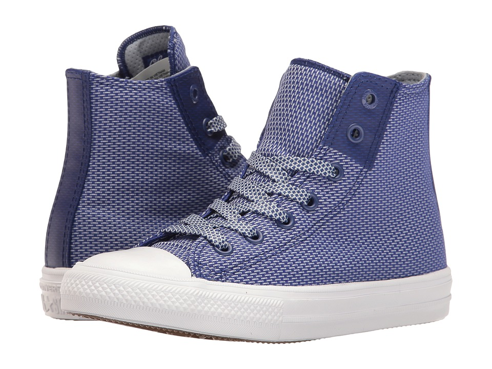 Converse Kids - Chuck Taylor All Star II Hi (Little Kid) (True Indigo/Blue Granite/White) Boys Shoes