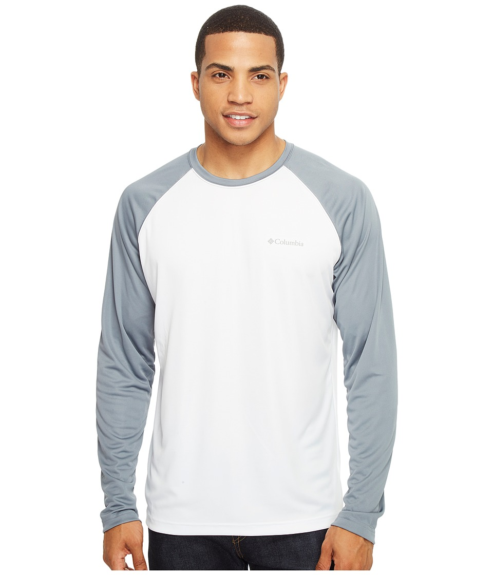 Columbia - Sunset Stream Long Sleeve Shirt (White/Grey Ash) Men's Clothing