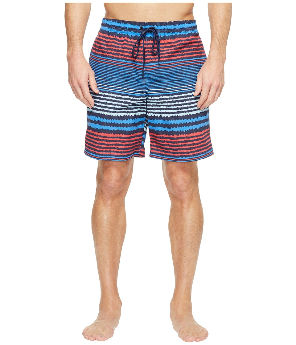 Columbia - Lakeside Leisure Printed Shorts II (Stormy Blue Stripe) Men's Shorts