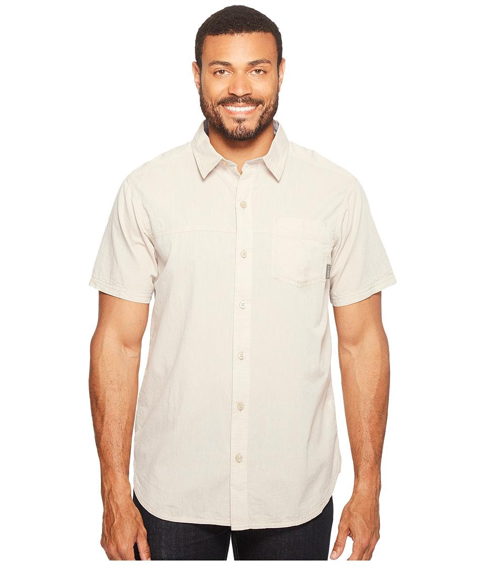 Columbia - Campside Crest Short Sleeve Shirt (British Tan) Men's Short Sleeve Button Up