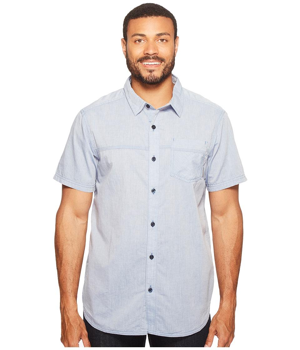 Columbia - Campside Crest Short Sleeve Shirt (Zinc) Men's Short Sleeve Button Up