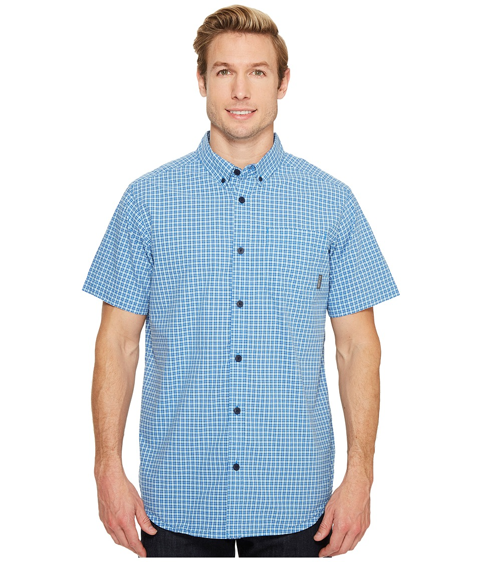Columbia - Rapid Rivers II Short Sleeve Shirt (Stormy Blue Small Plaid) Men's Short Sleeve Button Up