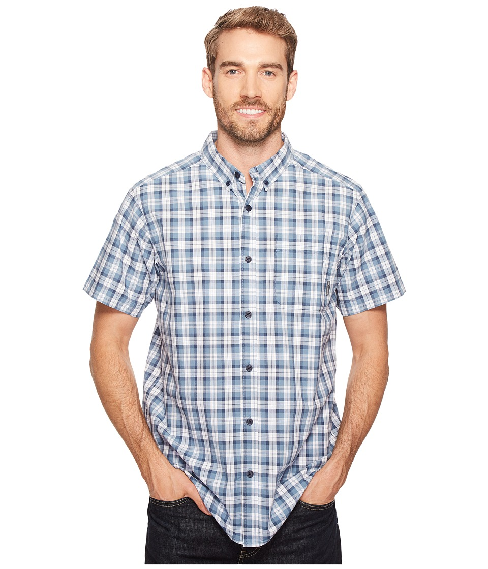 Columbia - Rapid Rivers II Short Sleeve Shirt (Dark Mirage Plaid 2) Men's Short Sleeve Button Up