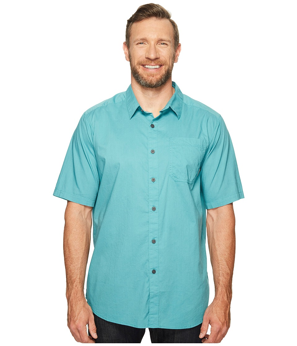 Columbia - Big Tall Thompson Hill Solid S/S Shirt (Teal) Men's Short Sleeve Button Up