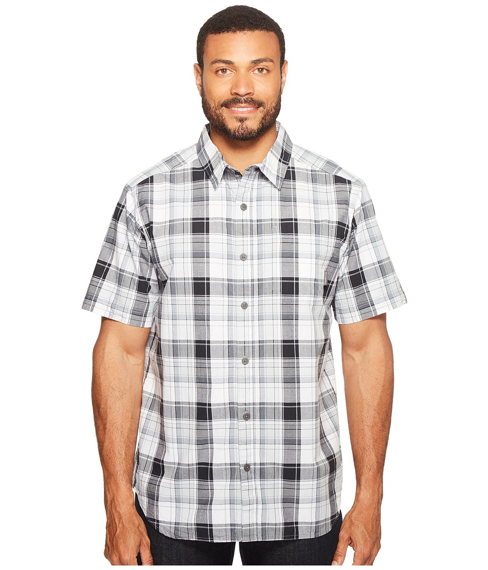 Columbia - Thompson Hill II Yarn Dye Shirt (Black Plaid) Men's Short Sleeve Button Up