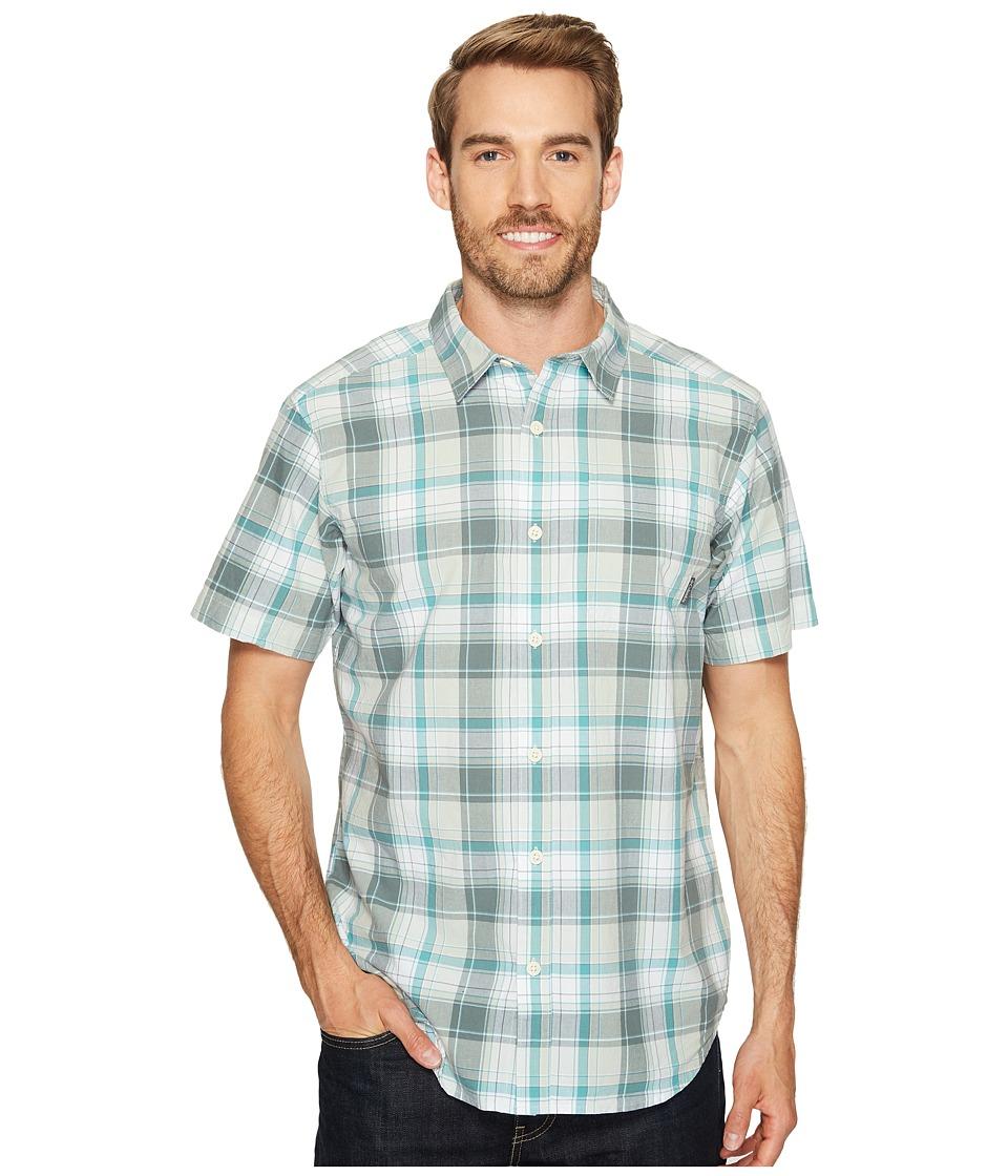 Columbia - Thompson Hill II Yarn Dye Shirt (Pond Plaid) Men's Short Sleeve Button Up