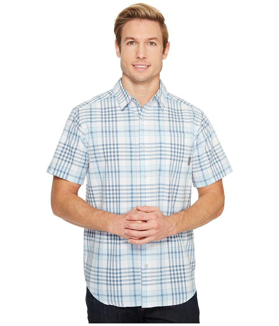 Columbia - Thompson Hill II Yarn Dye Shirt (Oxygen Grid) Men's Short Sleeve Button Up
