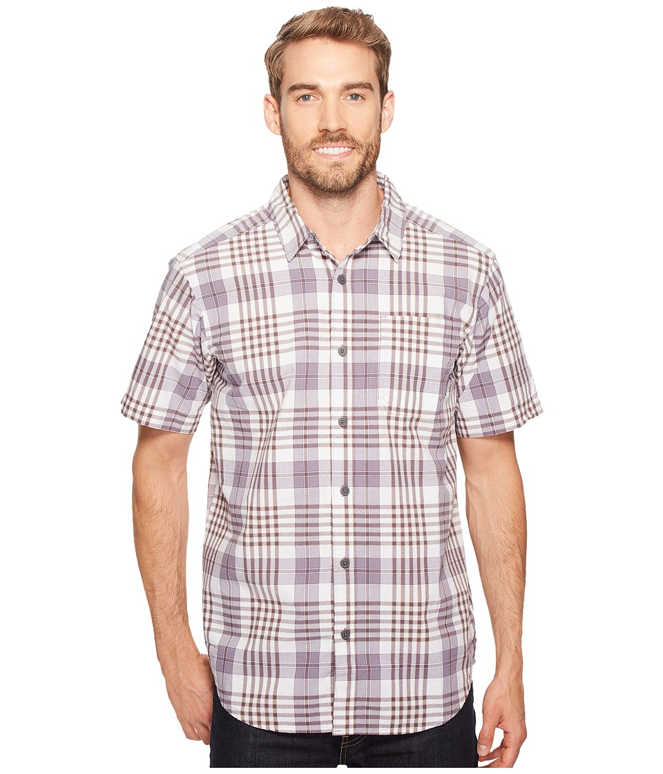 Columbia - Thompson Hill II Yarn Dye Shirt (Purple Sage Grid) Men's Short Sleeve Button Up