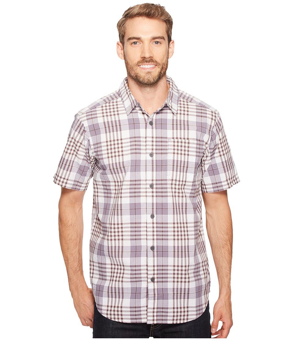 Columbia - Thompson Hill II Yarn Dye Shirt (Purple Sage Grid) Men's Short Sleeve Button Up