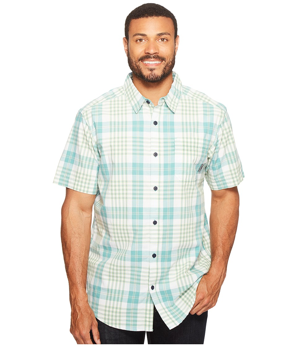 Columbia - Thompson Hill II Yarn Dye Shirt (Teal Grid) Men's Short Sleeve Button Up