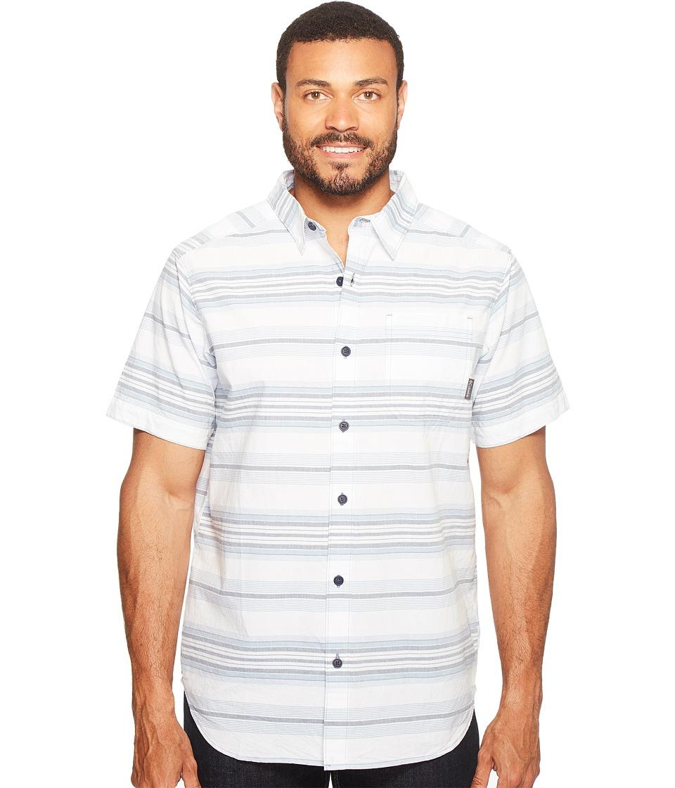 Columbia - Thompson Hill II Yarn Dye Shirt (Dark Mirage Stripes) Men's Short Sleeve Button Up