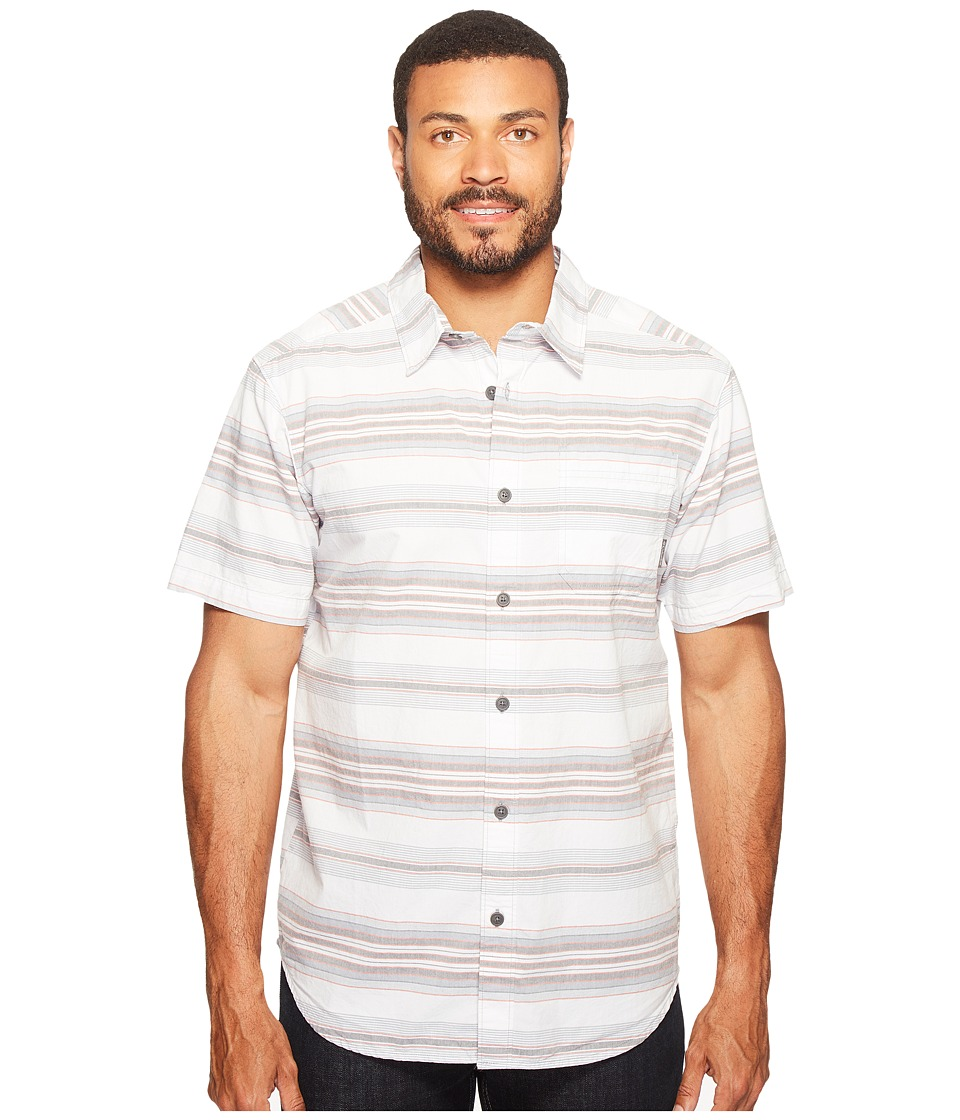 Columbia - Thompson Hill II Yarn Dye Shirt (Grey Ash Stripes) Men's Short Sleeve Button Up