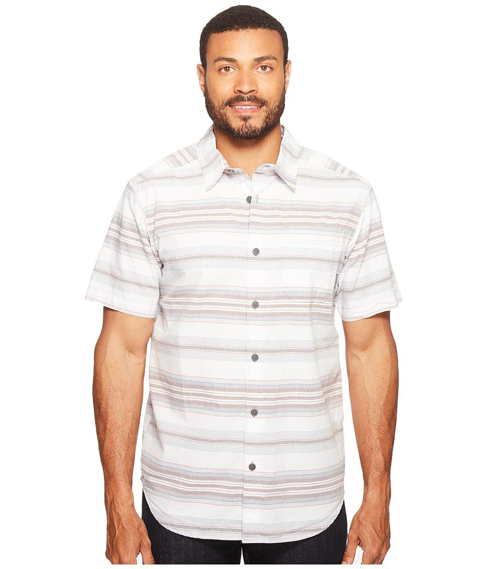 Columbia - Thompson Hill II Yarn Dye Shirt (Grey Ash Stripes) Men's Short Sleeve Button Up