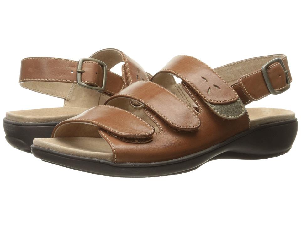 Trotters - Kendra (Luggage/Goldwash) Women's Sandals