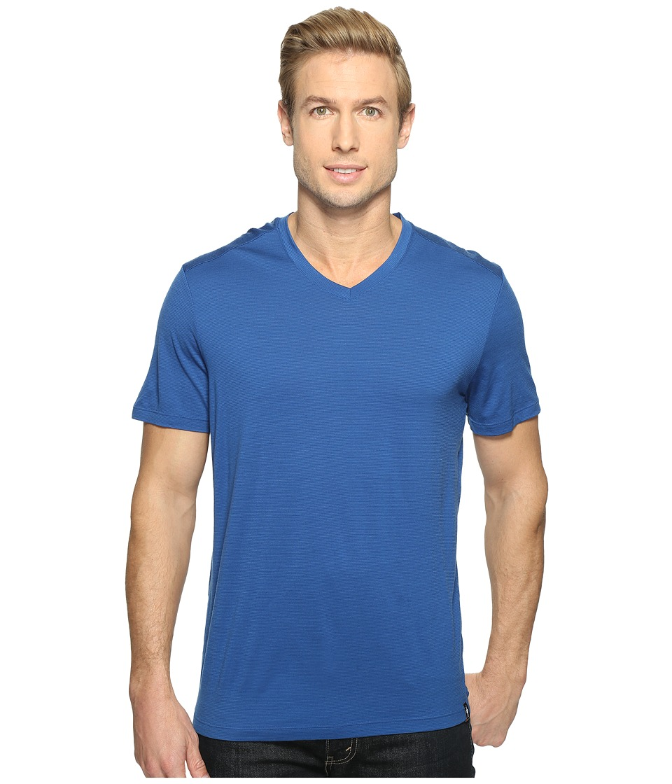 Smartwool - Merino 150 Pattern V-Neck (Dark Blue) Men's T Shirt