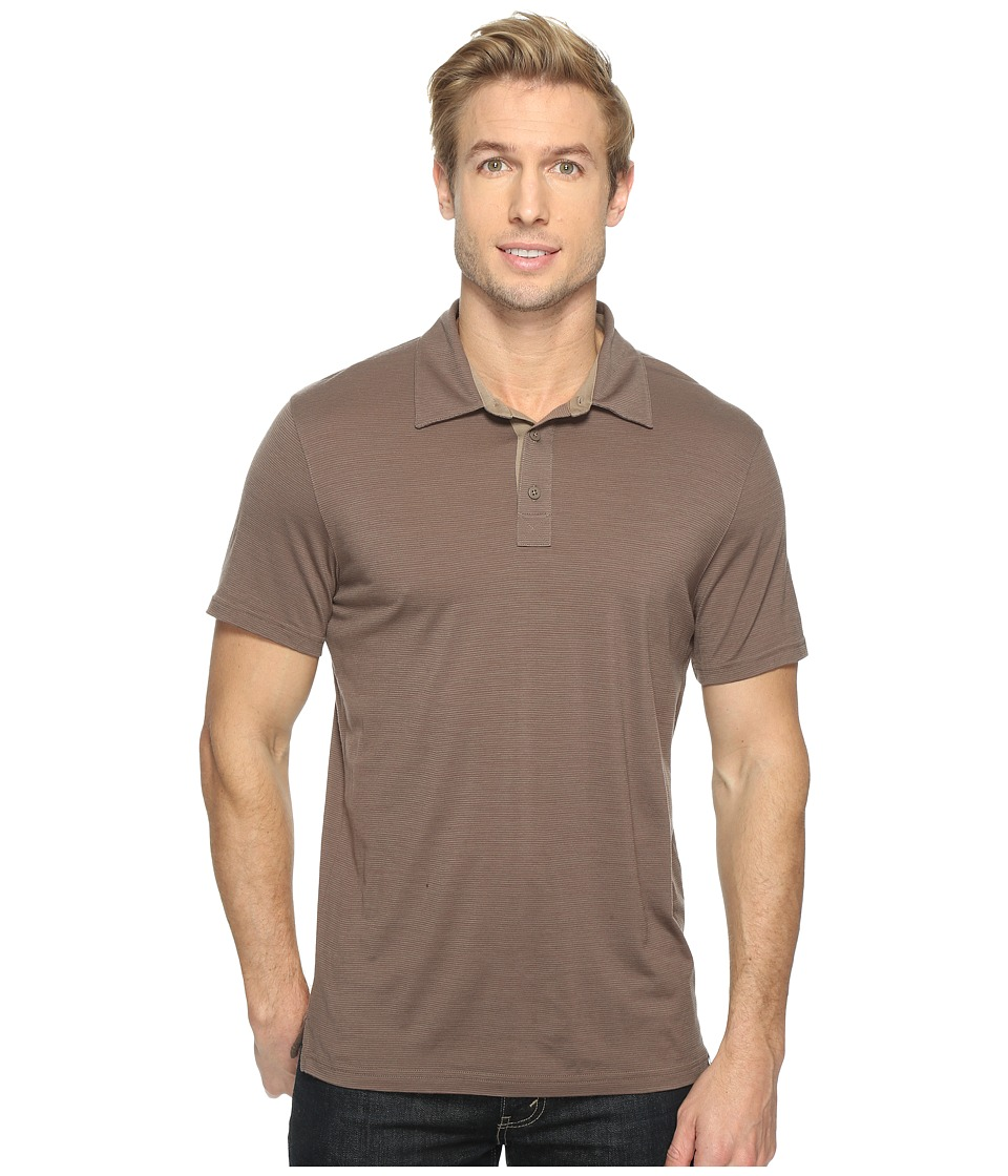 Smartwool Merino 150 Pattern Polo (Taupe) Men