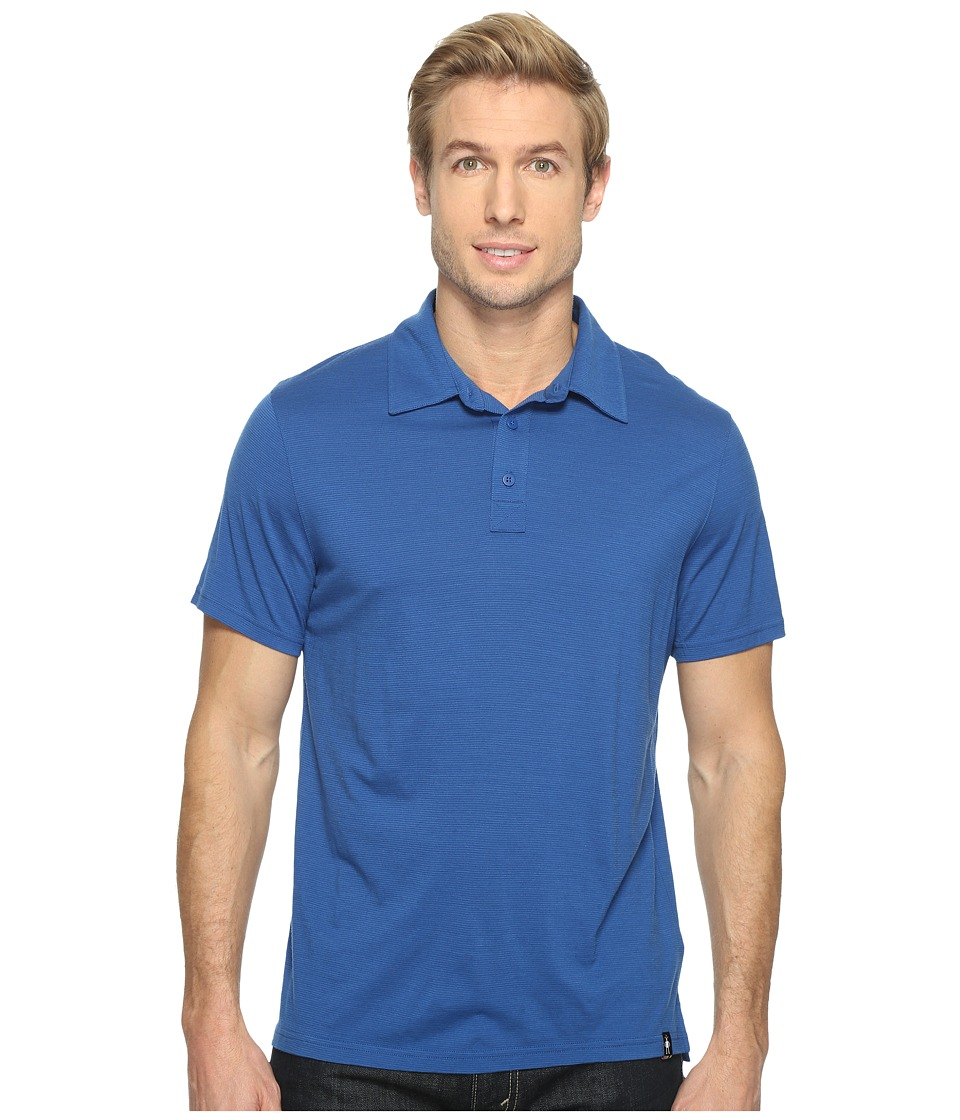Smartwool - Merino 150 Pattern Polo (Dark Blue) Men's Clothing