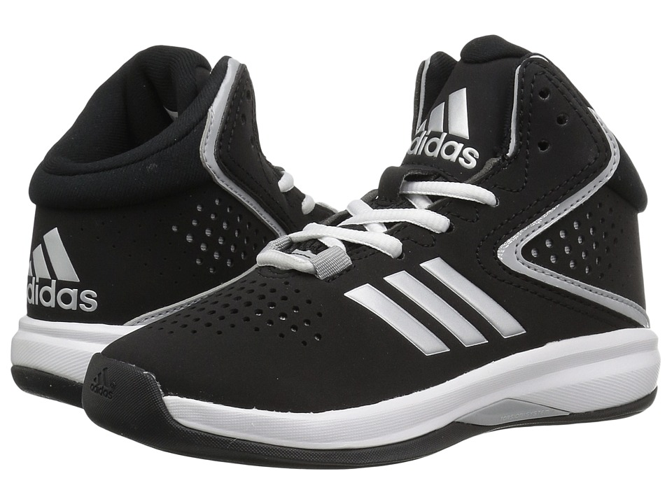 adidas Kids - Cross 'Em Up 2016 (Little Kid/Big Kid) (Core Black/Silver Metallic/Clear Onix) Boys Shoes