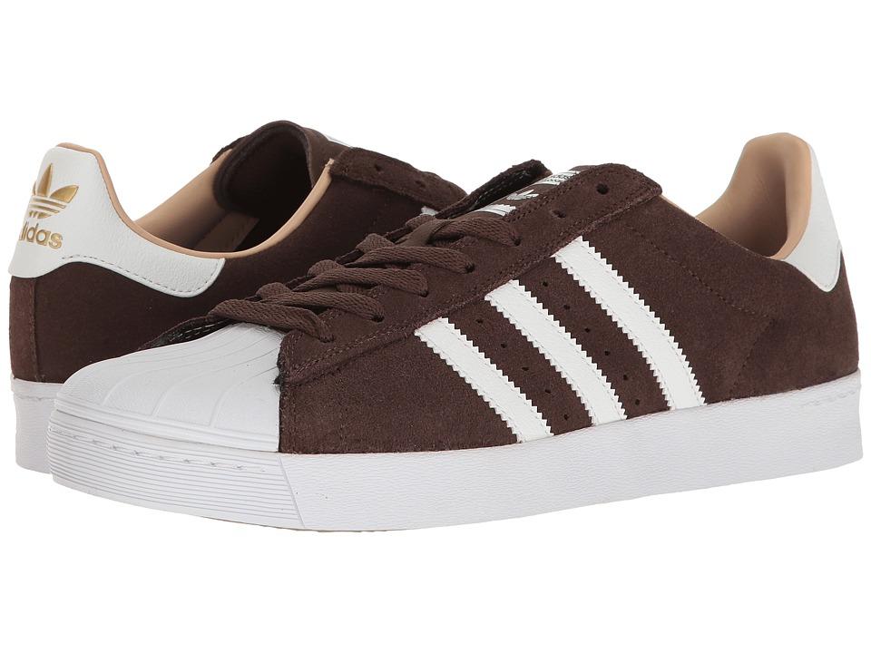 adidas Skateboarding - Superstar Vulc ADV (Brown/White/Gold Metallic) Skate Shoes