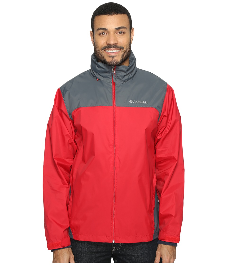 Columbia Glennaker Lake Rain Jacket (Mountain Red/Graphite) Men