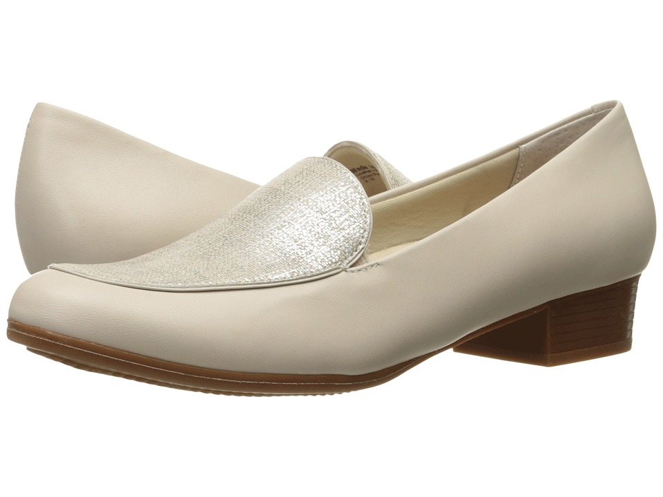 Trotters - Monarch (Nude/Metallic Linen) Women's Shoes