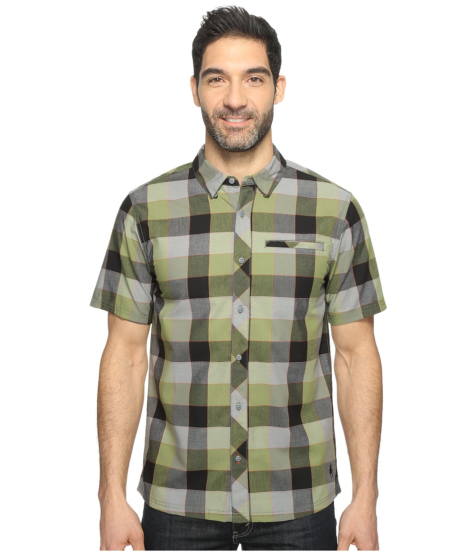 Smartwool - Summit County Retro Plaid (Light Loden) Men's Short Sleeve Button Up