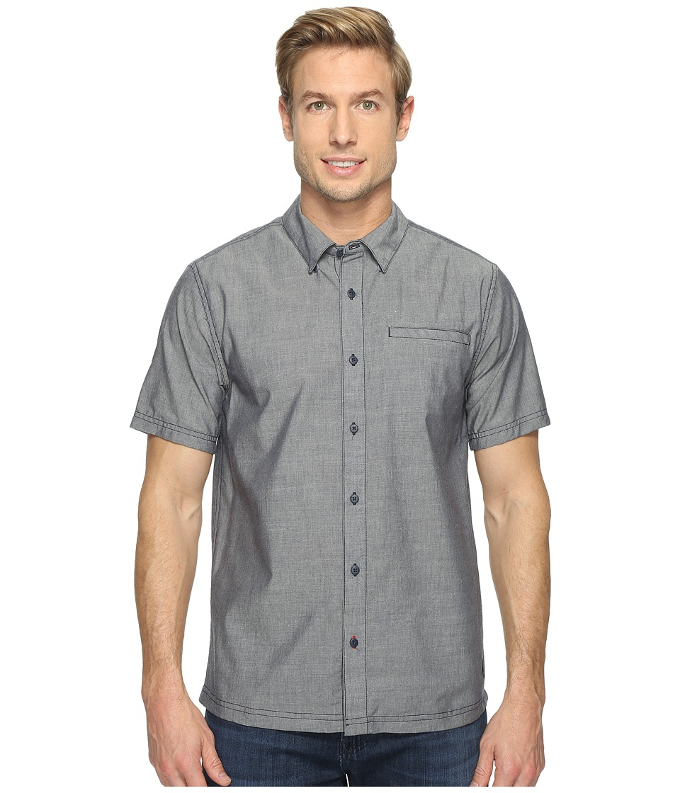 Smartwool - Summit County Chambray Short Sleeve (Dark Blue) Men's Short Sleeve Button Up