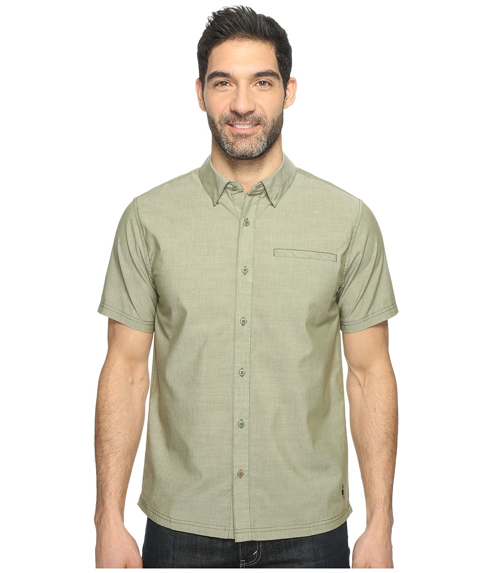 Smartwool - Summit County Chambray Short Sleeve (Light Loden) Men's Short Sleeve Button Up